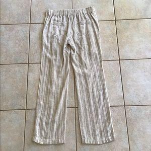 Per Se Linen Draw String Pants Size S